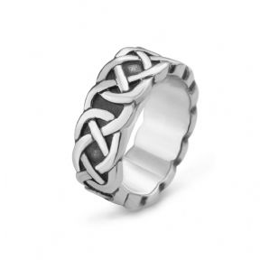 Celtic Knotwork Stainless Steel Ring 9368